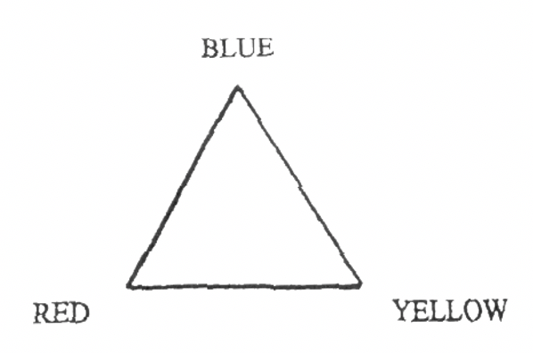 triangle of light color